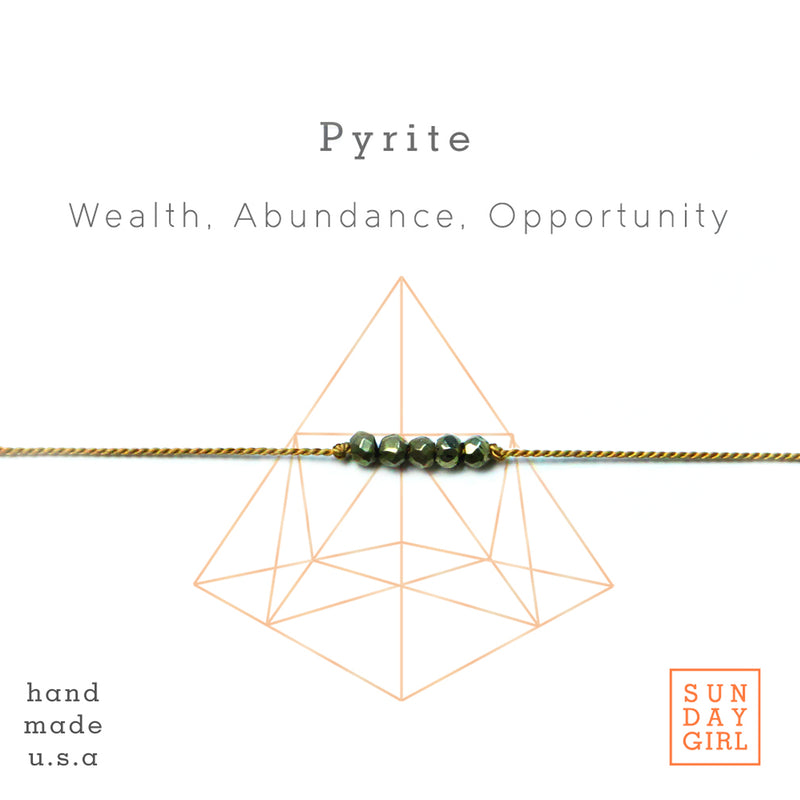 Crystal Intention Bracelet - Pyrite