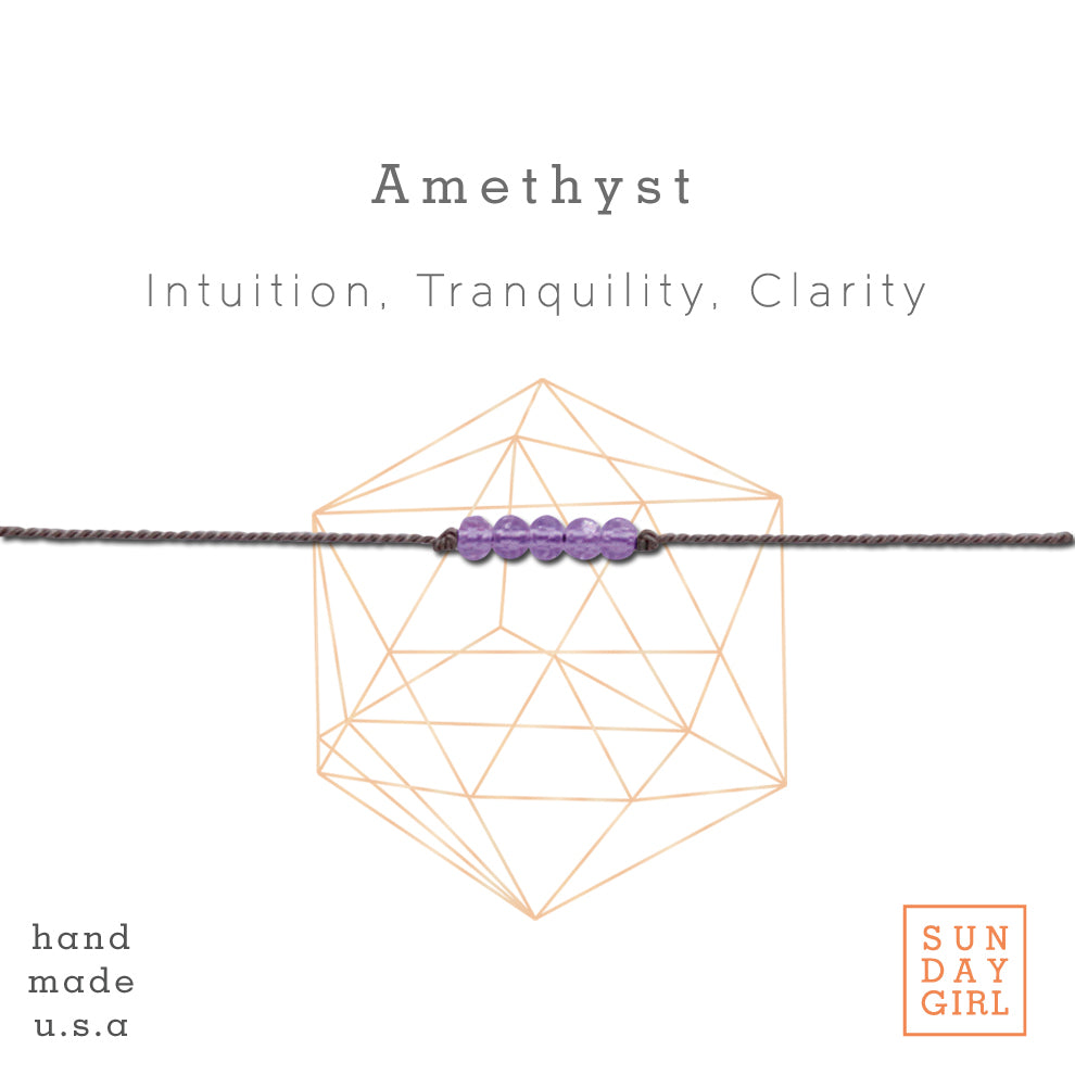 Crystal Intention Bracelet - Amethyst