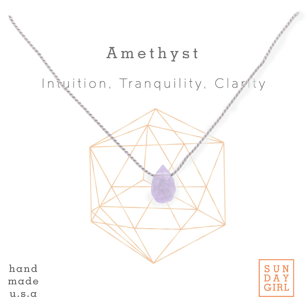 Crystal Intention Necklace - Amethyst