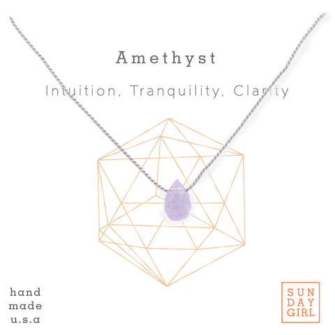 Crystal Intention Necklace - Smoky Quartz