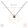 Crystal Intention Necklace - Garnet