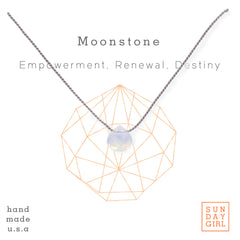 Crystal Intention Necklace - Moonstone