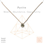 Crystal Intention Necklace - Pyrite