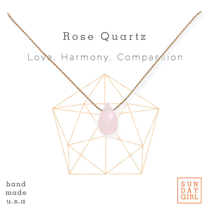 Crystal Intention Necklace - Rose Quartz