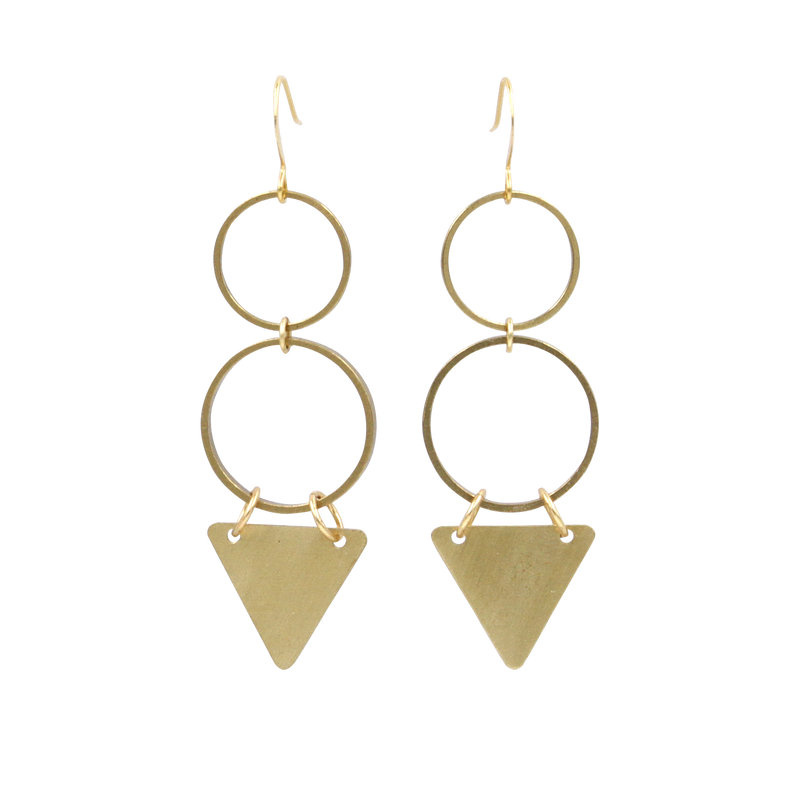 Bermuda Geometric Dangle Earrings