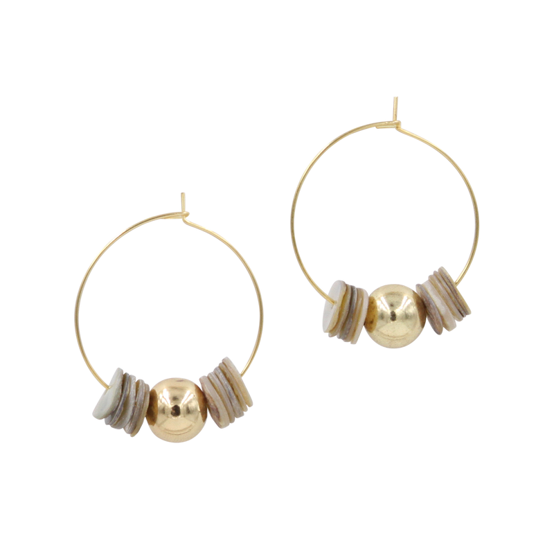 Maia Shell Hoops