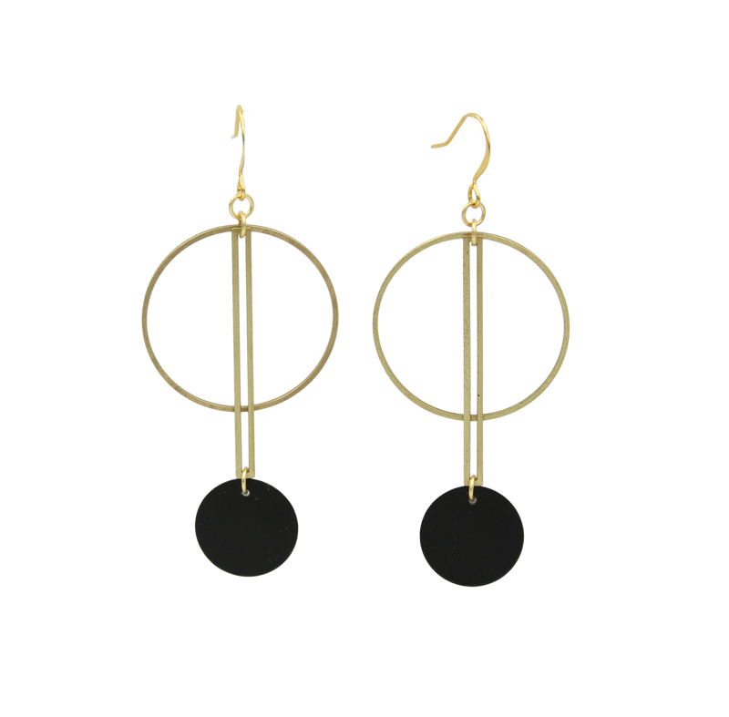 Alo Brass 2-Tone Geo Earrings