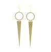 Kioni Geo Brass Point Dangle Earrings