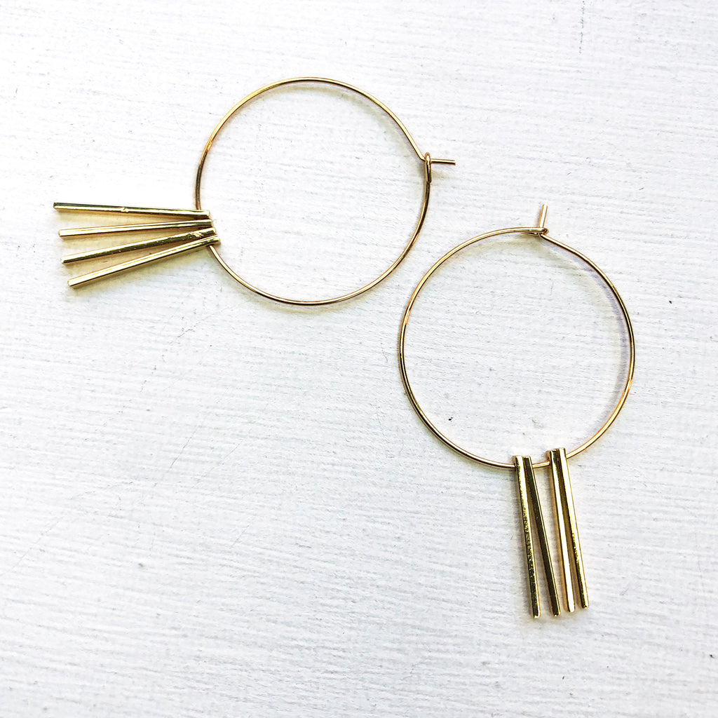 Drifter Hoops in Gold