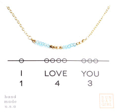 Gemstone Secret Code Necklace - Apatite