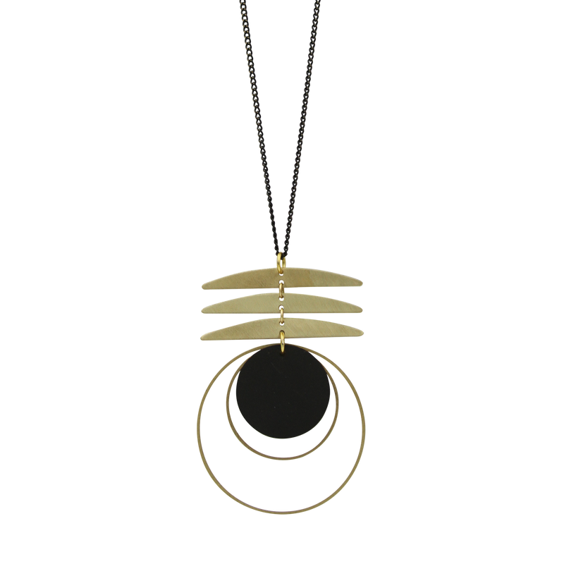 Agnes Brass Sculpture Necklace
