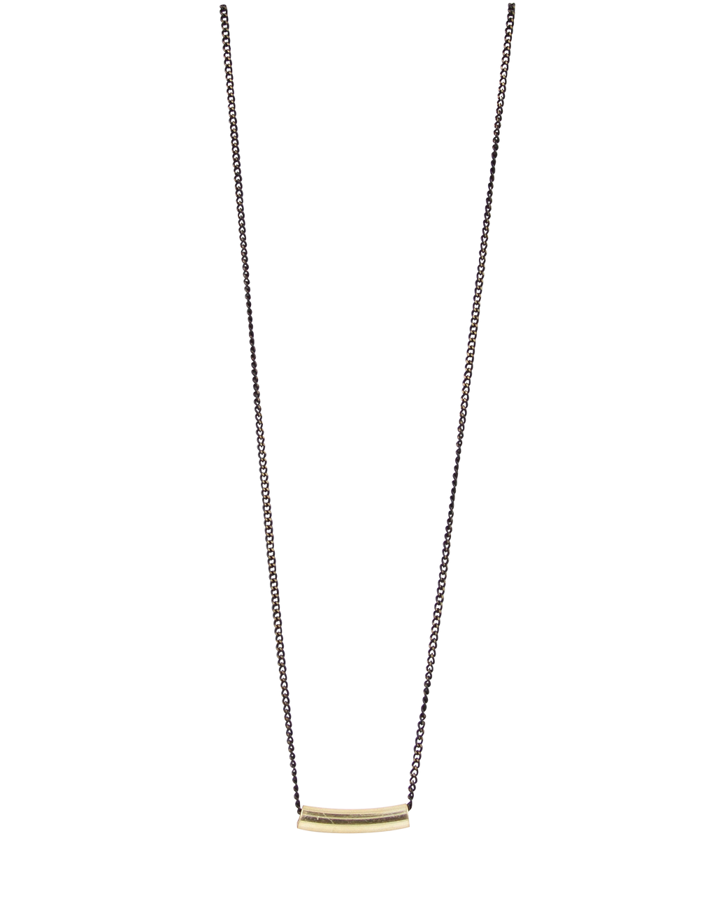 Freya Short Tube & Chain Necklace