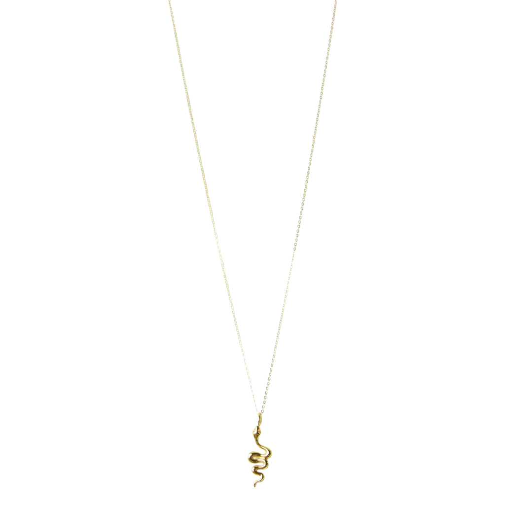 Talisman - Awakening Gold Serpent Necklace