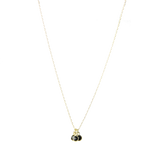 Gemstone Triplets Minimal Necklace - 5 colors available