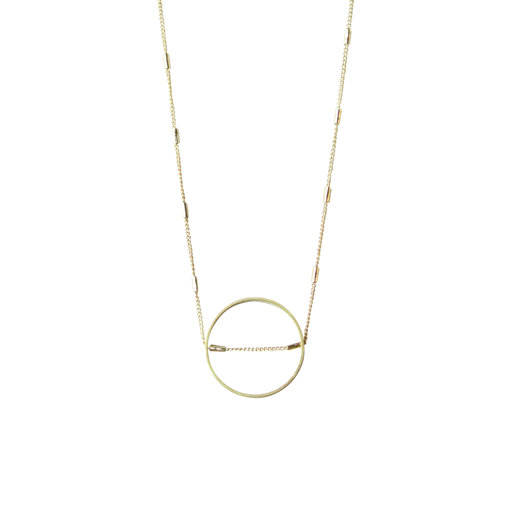 Circle Intersected Necklace