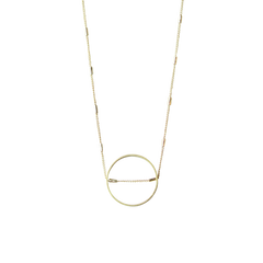 Open space circle necklace