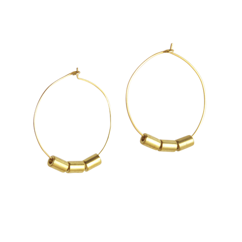 Belmont Disk and Circle Modern Geometric Earrings