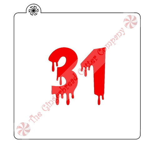 Bloody 31 Cookie Stencil
