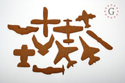 P-51 Mustang Side View Cookie Cutter