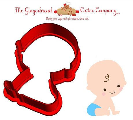 Sitting Baby Cookie Cutter