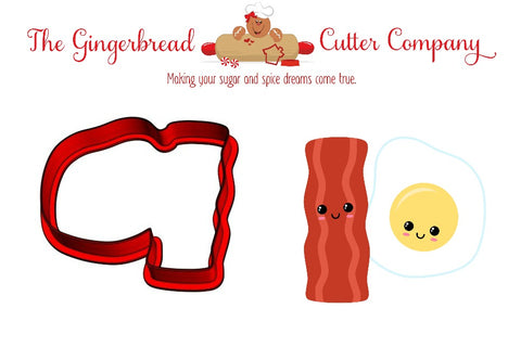 We Go Together Like...Bacon & Eggs Cookie Cutter