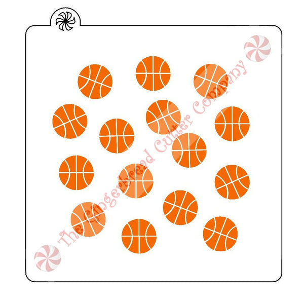 Basketball Background Cookie Stencil