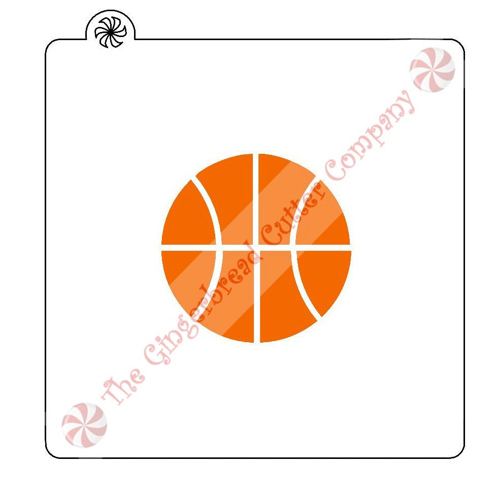 Basketball Cookie Stencil