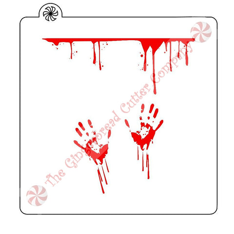 Bloody Handprints Cookie Stencil