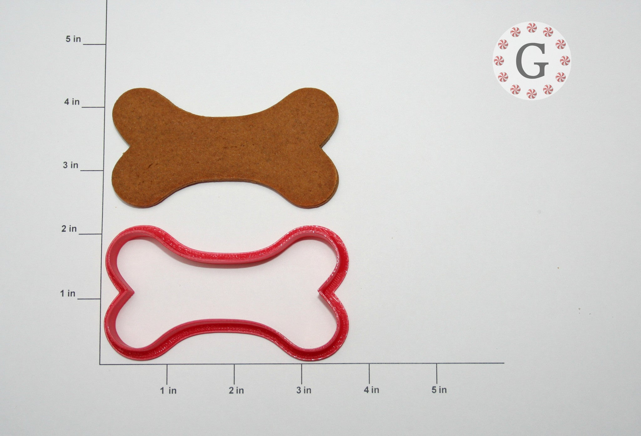 Curved Dog Bone Cookie Cutter
