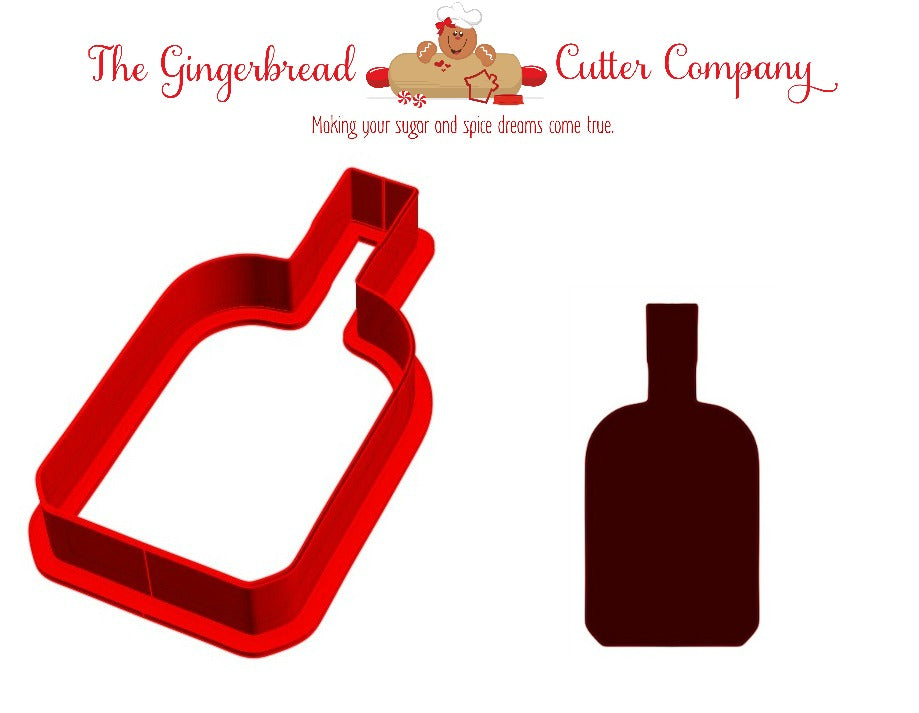 Bourbon Bottle Cookie Cutter