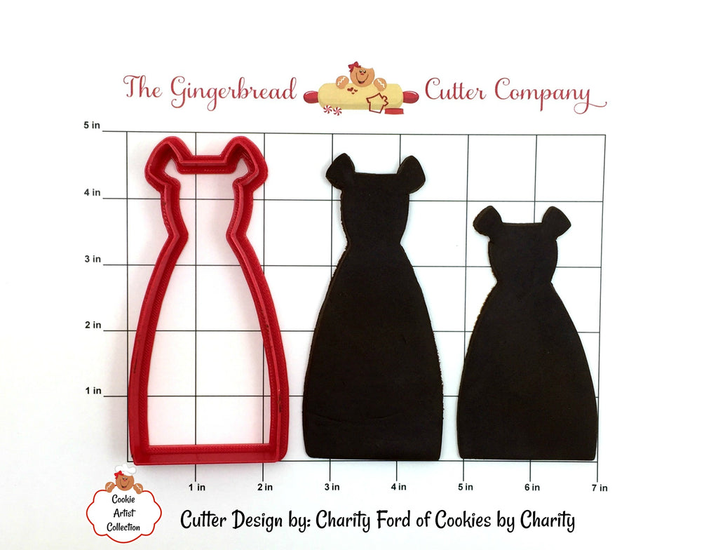 Bridesmaid Dress Cookie Cutter - 2 Size Options