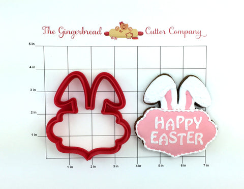 Bunny Ear Plaque Cookie Cutter