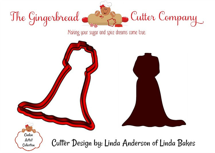Wedding Gown Cookie Cutter-CAC