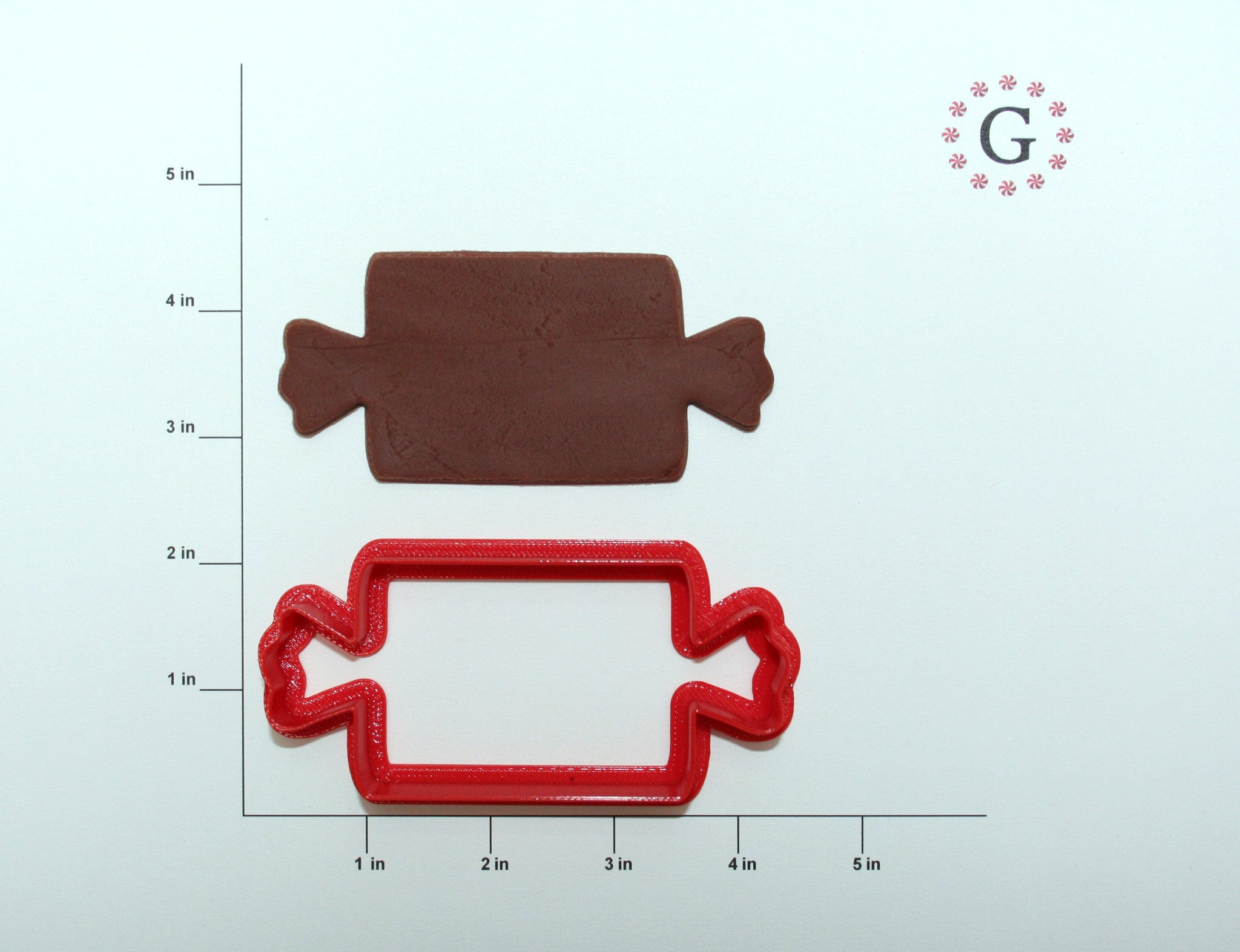 Square Wrapped Candy Cookie Cutter