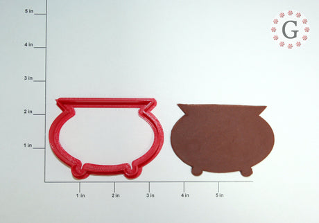 Witch's Cauldron Cookie Cutter - 2 Size Options