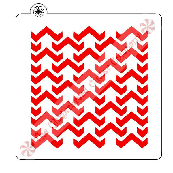 Chevron Broken Background Cookie Stencil