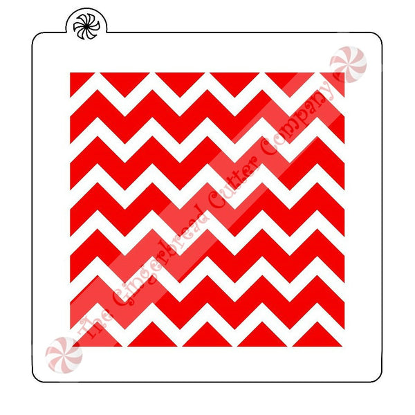 Chevron Pattern Background Cookie Stencil