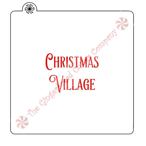 Christmas Village Cookie Stencil