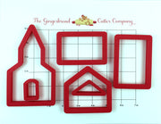 Gingerbread Church Cookie Cutter Set