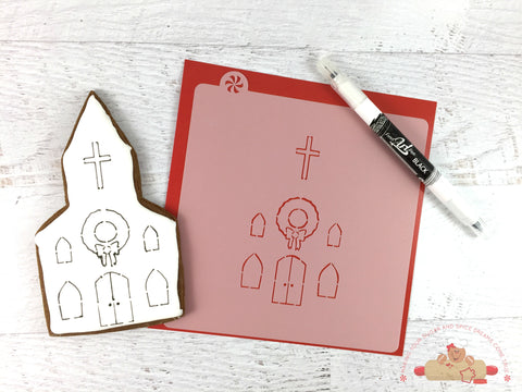 Church Cutter & Stencil Set