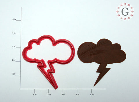 Cloud with Lightning Bolt Cookie Cutter