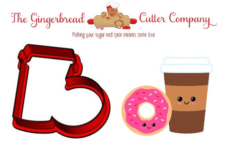 We Go Together Like...Coffee & Donuts Cookie Cutter