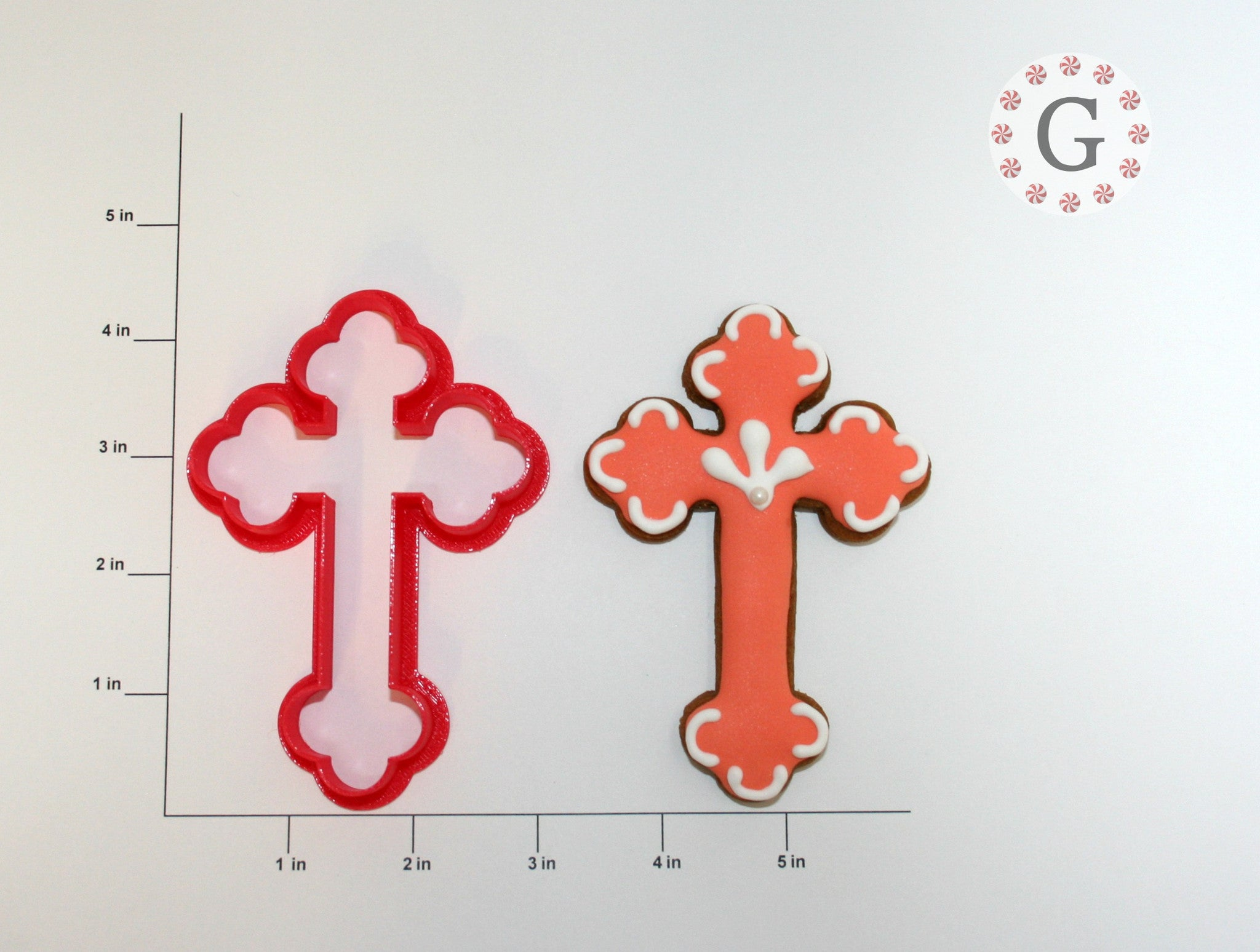 Budded Cross Cookie Cutter - 2 Size Options