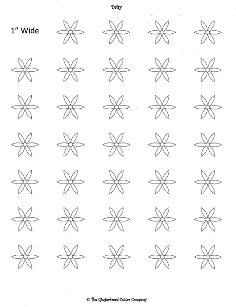 Daisy Royal Icing Transfer Template