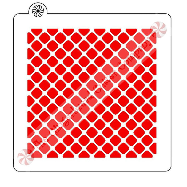 Diagonal Grid Background Cookie Stencil