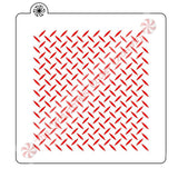 Diamond Plate Background Cookie Stencil