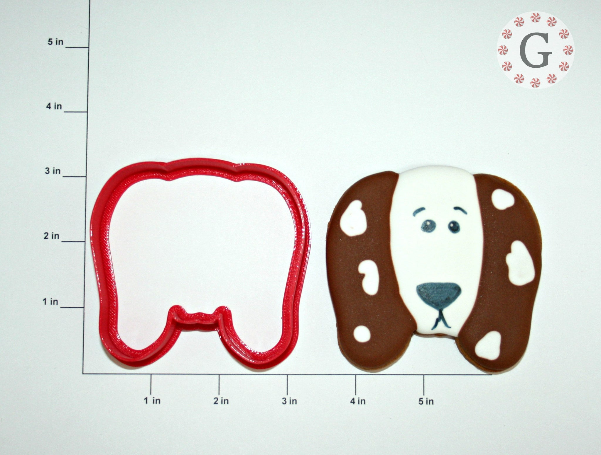 Dog Face with Long Ears Cookie Cutter