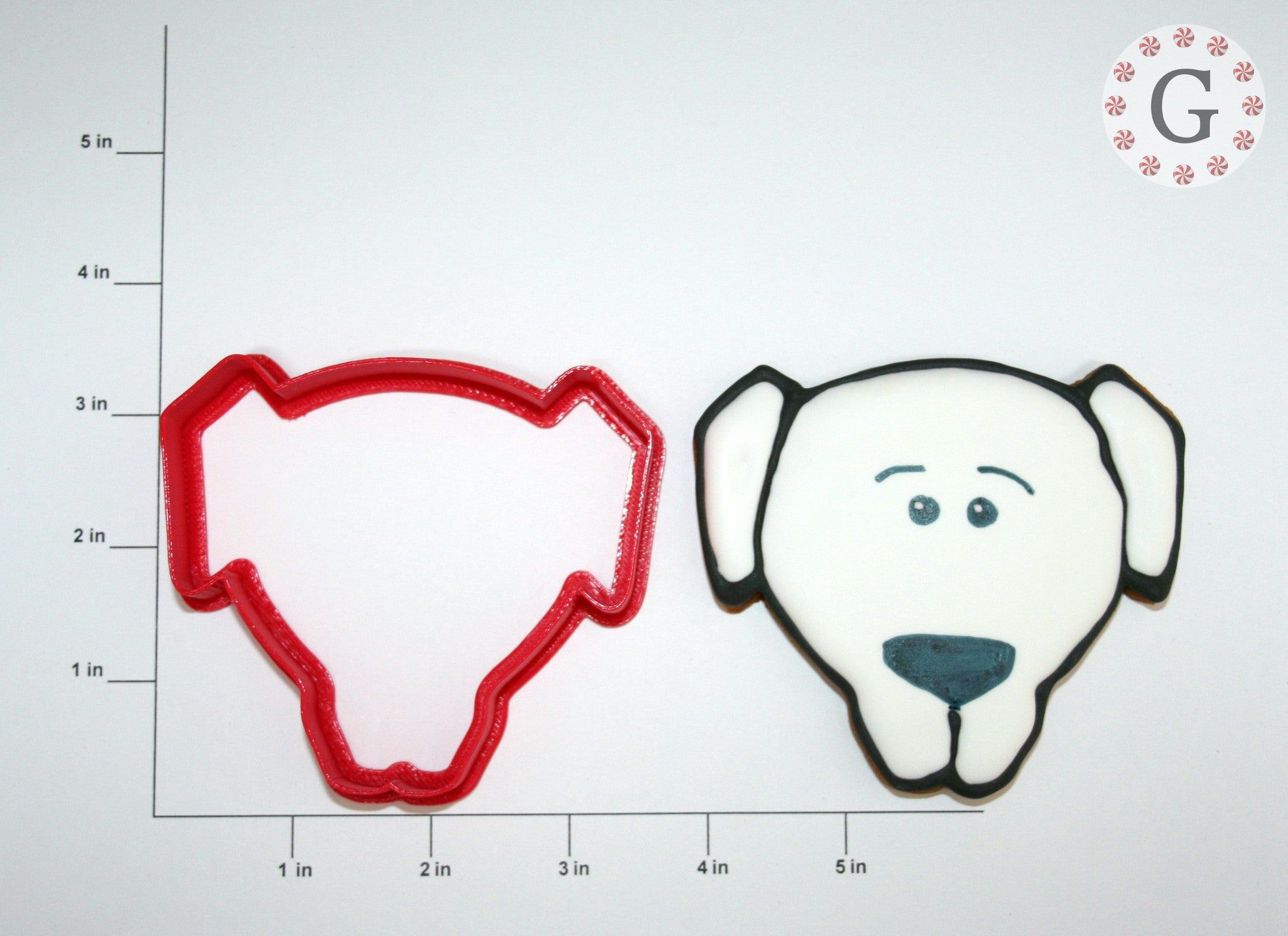 Dog Face with Short Ears Cookie Cutter
