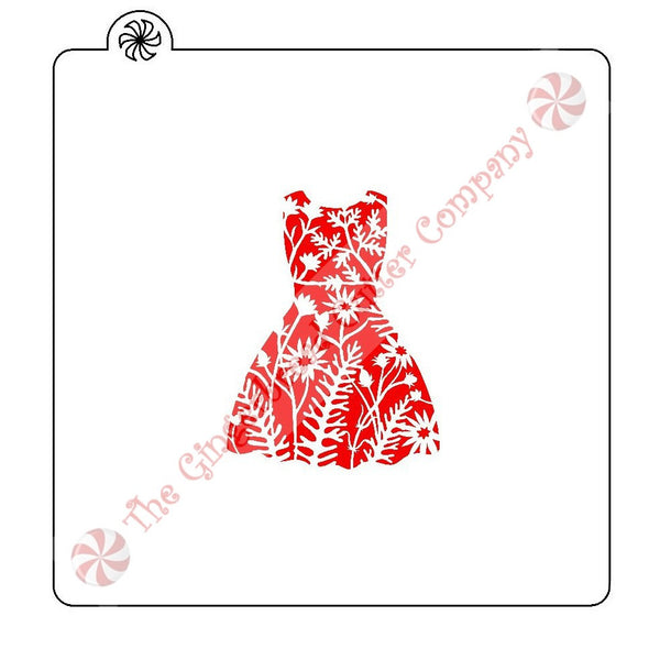 Floral Dress Cookie Stencil