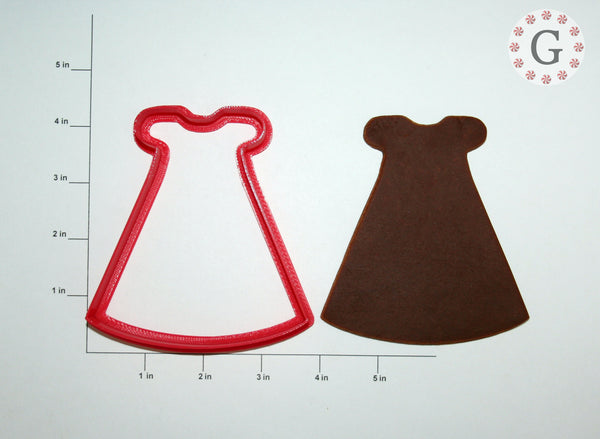 Baptism Dress Cookie Cutter